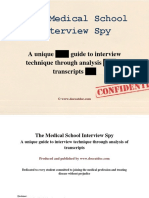 The Medical School Interview Spy