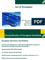 Demystification of European Standards Dr Colin Young SAPCA