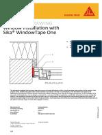 900 58 010 C 0612 Window Installation With Sika WindowTape One New