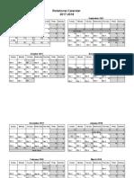 Rotational Calendar 2017-2018