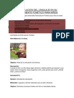 Estimulación Del Lenguaje en Su Componente Fonético Para Niños