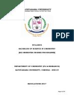 B.sc Chemistry Full Syllabus