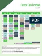 Club Baltimore Class Timetable