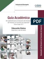 Guía Académica. Supervissores. Educación Básica