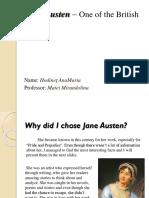 Jane Austen – One of the British Legends