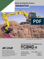 FOLHA DE DADOS KOMATSU PC240