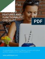 PebblePad Portfolio Comparison Checklist
