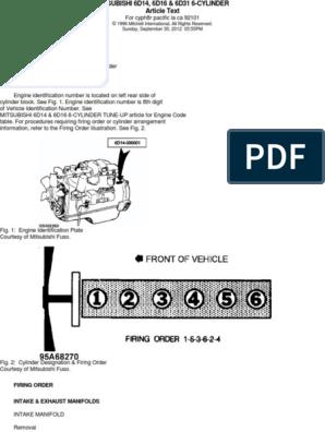 Especificaciones Mitsubishi 6d16 | Cylinder (Engine) | Piston