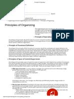 Principles of Organizing