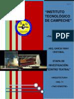 Investigación Diseño v- Centro Teatral Completo