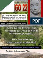 Domingo Vigesimo Segundo (3 de septiembre 2017)