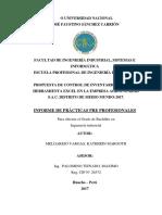 Informe de Practicas gestión de inventario