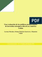 2009 - Morales Lorena - Evaluación de Políticas Promocionales de IED en AM Lat