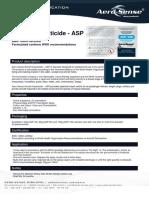 Aero-Sense Technfiche Aircraft Insecticide-ASP En