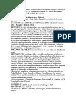 Presentación caso clínico Revista Internacional de Psicología Clínica y de la Salud