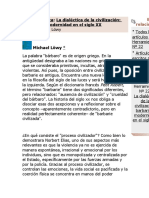 Teoría Política Ladialectica de La Civilizacion Por Michel Lowy
