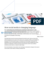how social media is changing language - article