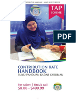 Contribution Rate Handbook Matrix (TAP Only)
