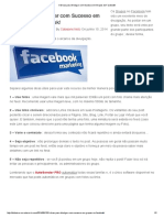 5 Dicas Para Divulgar Com Sucesso Em Grupos Do Facebook!