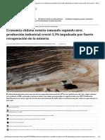 Economía Chilena Estaría Tomando Segundo Aire_ Producción Industrial Creció 3,3% Impulsada Por Fuerte Recuperación de La Minería - El Mostrador