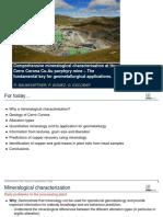 Cerro Cororona Geometallurgy Baumgartner Et Al 2016