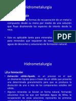 Hidrometalurgia Presentación