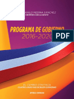 ProgramadeGob DaniloMedina 2016 2020