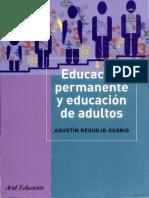Agustín Requejo Osorio, Educación Permanente Y Educación de Adultos