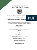 Examen Parcial - Prognosis de Los Metales - HUINAC