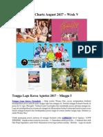 KPOP Charts August 2017 – Week V