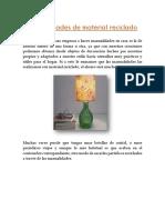 Manualidades de Material Reciclado.davidR