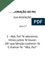 027 - Adoração Ao Pai-sua Redenção