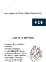 El proyecto de investigación y creación
