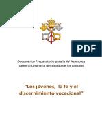 Documento Preparatorio Para La Xv Asamblea General Ordinaria Del Sinodo de Los Obispos