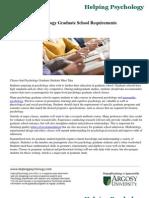 Psychology Graduate School Requirements