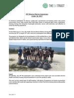 GVI Mexico Under 18 Marine Awarenes Achivement Report 2017