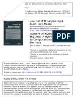 Content Analysis in an Era of Big Data A