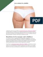Automasaje Para Reducir La Celulitis