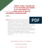 No Se Necesita Delito Precedende Demostrado--EJECUTORIA SUPREMA 2016