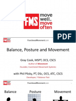 Cook and Plisky - Balance, Posture and Movement