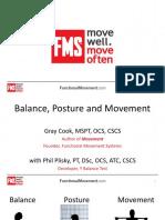 Cook and Plisky - Balance, Posture and Movement