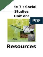 ESST-Unit on Resources