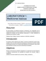 Informe #1 Laboratorio de Fisica Electrica