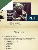wed aug 30 bible