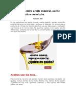 Diferencias Entre Aceite Mineral, Vejetal y Esencial