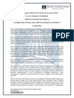 RO# 062-S - Reformar Res.no. NAC-DGERCGC14-00000787 y Sus Reformas, Que Fija % Retención en La Fuente de Impuesto a La Renta (22 Ago. 2017)