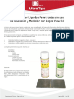 Inspeccion Por Liquidos Penetrante Sin Uso de Revelador Llogsa de Cv