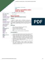 Experimento e Questões Sobre Tratamento de Água - Química Ambiental e Educação Ambiental