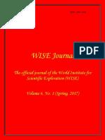 WISE Journal Volume 6, No. 1 (Spring, 2017)