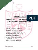 Informe Farmacología - Agonistas y Antagonistas